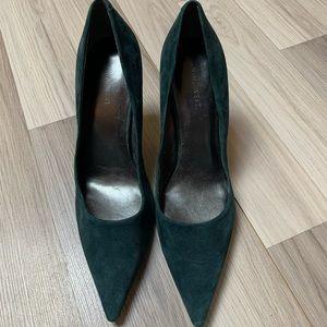 Nine West Green Suede Pumps Heels